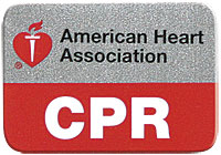 CPR Lapel Pin -Red and Silver